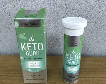 Лицевая сторона упаковки Keto Guru для похудения