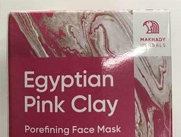 Маска Egyptian Pink Clay упакована в коробке.